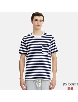 Men Jw Anderson Asymmetric Striped T Shirt by Uniqlo