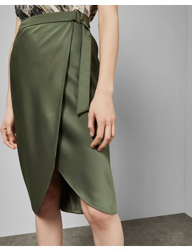 Belted Wrap Midi Skirt by Ted Baker