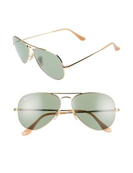 58mm Polarized Photochromic Aviator Sunglasses by Ray Ban