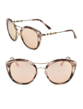50 Mm Tinted Cat Eye Sunglasses by Burberry