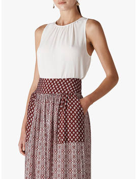 Whistles Lark Tie Back Tunic, Ivory by Whistles