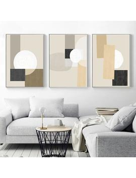 Geometric Poster Beige Wall Art Neutral Prints Modern Home Office Set Of 3 Prints Triptych Art Geometric Artwork Downloadable Prints 16x20 by Etsy