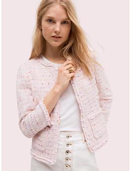 Open Tweed Jacket by Kate Spade