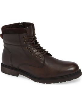 Drue Pebbled Combat Boot by Reaction Kenneth Cole