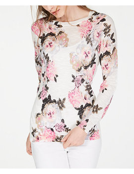 I.N.C. Floral Pullover Sweater, Created For Macy's by Inc International Concepts