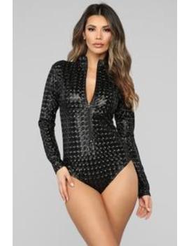 watcha-say-bodysuit---black by fashion-nova