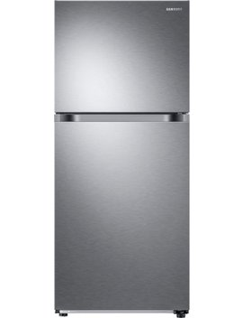 17.6 Cu. Ft. Top Freezer Refrigerator   Fingerprint Resistant Stainless Steel by Samsung
