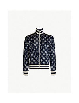 Logo Intarsia Stretch Jersey Jacket by Gucci