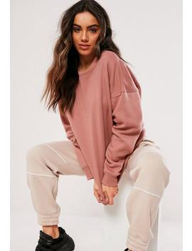 Pink Oversized Sweat by Missguided