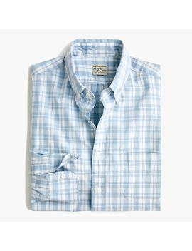 Slim Secret Wash Shirt In Light Blue Plaid by J.Crew