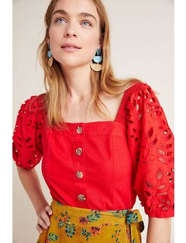 Christiana Eyelet Blouse by Maeve