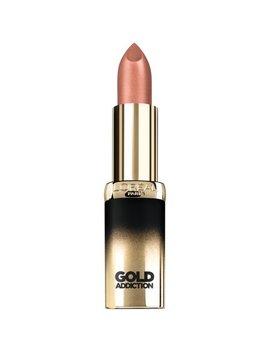 L'oreal Paris Colour Riche Gold Addiction Satin Lipstick, Nude Gold by L'oreal