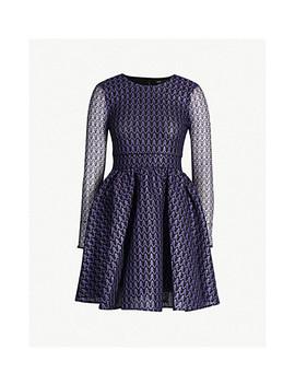 Ravira Structured Lace Dress by Maje