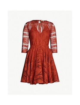 Ripiza Round Neck Stretch Lace Dress by Maje