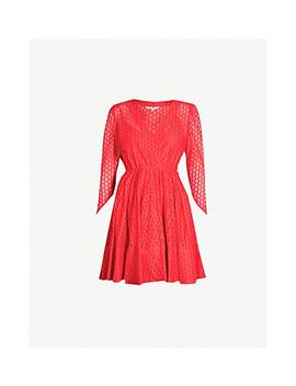 Ralina V Neck Guipure Lace Skater Dress by Maje