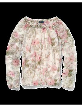 Floral Chiffon Top by Ralph Lauren