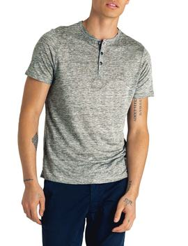 Slim Fit Linen Henley by Good Man Brand
