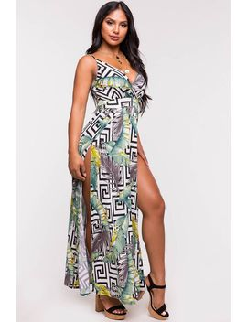 Geo Tropical Maxi Dress by A'gaci