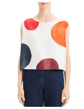 Dot Boxy Silk Top by Theory