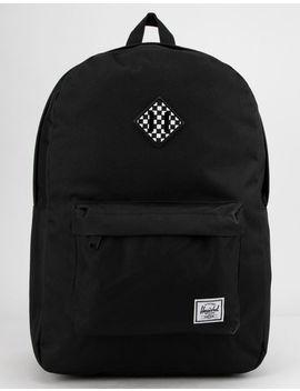 Herschel Supply Co. Heritage Black & Checkerboard Backpack by Herschel Supply Co