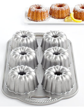 Anniversary 6 Cavity Mini Bundt Pan by Nordic Ware