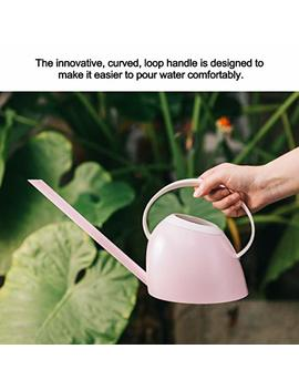 Plant Watering Can, Indoor Outdoor Plant Watering Can, Premium Plastic Watering Pot, Lovely Candy Color Pour Store Watering Can With Long Spout, 1.2 L Watering Bottle For Garden, Plant, Flower (Pink) by Getbear