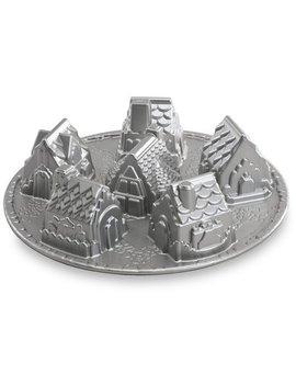 """Nordic Ware Cozy Village Pan, Cast Aluminum, Lifetime Warranty, 6 Cup, 2.51 Lbs, 12.13"""" X 12.13"""" X 2.88"""" by Nordicware"""