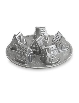 Nordic Ware Platinum Cozy Village Baking Pan by Nordicware