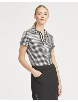 Tailored Fit Print Golf Polo by Ralph Lauren