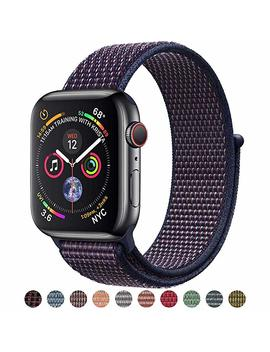 Vati Sport Band Compatible With Apple Watch Band 38mm 40mm 42mm 44mm, Soft Lightweight Breathable Nylon Sport Loop Replacement Strap Compatible With I Watch Apple Watch Series 4, Series 3/2/1 by Vati