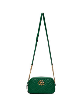 Green Small Gg Marmont Camera Bag by Gucci