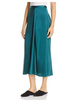Silk Godet Midi Skirt by Eileen Fisher