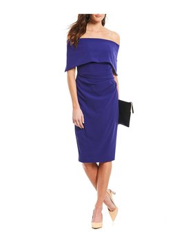 Off The Shoulder Popover Midi Dress by Vince Camuto
