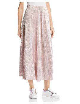 High Holiday Plissé Midi Skirt by Free People