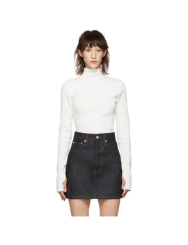 White Essential Turtleneck by Helmut Lang
