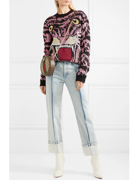 Oversized Metallic Intarsia Knitted Sweater by Gucci
