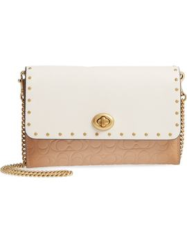 Marlow Rivets Leather Crossbody Bag by Coach
