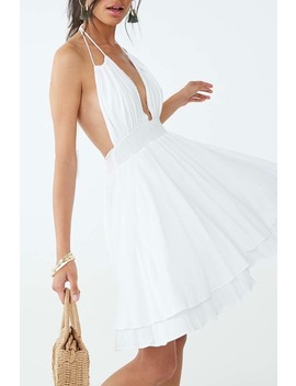 Tasseled Halter Dress by Forever 21