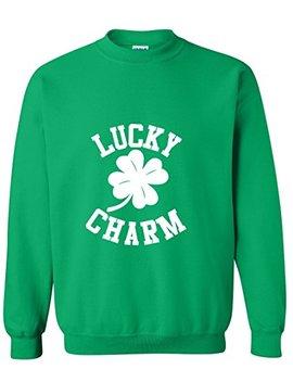 Blue Lagoon Adult Lucky Charm Shamrock Saint St. Patricks Day Crewneck Sweater by Blue Lagoon