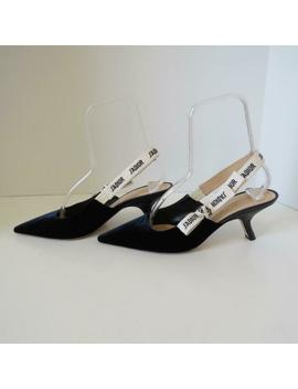 *Christian Dior J'adior Navy Velvet Slingbacks/Heels/Shoes 40.5/ Us 10.5 by Ebay Seller