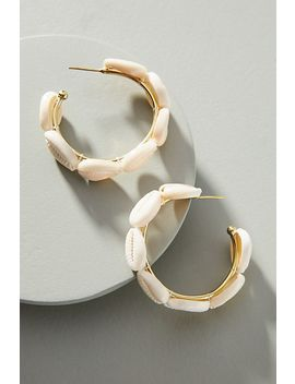 Lena Bernard Shell Hoop Earrings by Lena Bernard