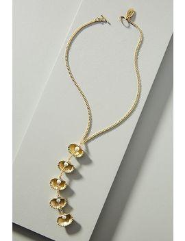 Lena Bernard Pearl Oyster Lariat Necklace by Lena Bernard