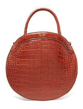 Panier Croc Effect Leather Tote by Tl 180