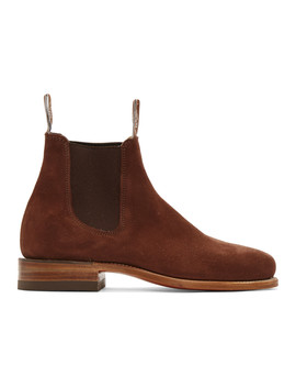 Brown Suede Classic Turnout Chelsea Boots by R.M. Williams