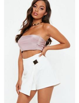 Seabelt Detail Wrap Skort by Missguided