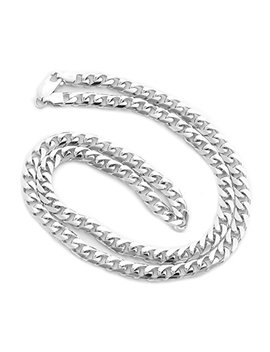 Men's Solid 14k White Gold Heavy Miami Cuban Link Chain Necklace Or Bracelet by Beauniq