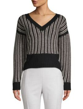 Contrast Cashmere Sweater by Naadam