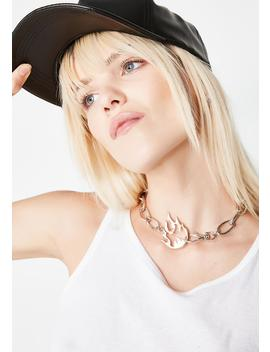 Oh So Lit Chain Choker by
