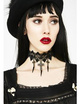 Crucified Lover Lace Choker by