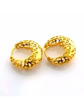 Fidget Fidget 24k Yellow Gold Filled Earrings 17mm Unique Hoop Gf Charm Fashion Jewelry Women by Fidget Fidget